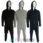 Mens Full Zipped Quilted Diamond Designer Plain Tracksuit Hoodie Top Bottoms New