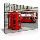 CITYSCAPE Europe UK LONDON BUS 8 1L Canvas Framed Printed Wall Art ~ More Size