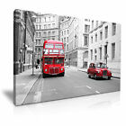 CITYSCAPE Europe UK LONDON BUS 9 1L Canvas Framed Printed Wall Art ~ More Size