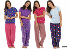 Ladies Patterned Pyjama Set - Several Designs and Sizes Available