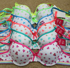 Lot 1 3 6 Full Cup Cute Ribbon Care Bear Rainbow Cotton 28A 30A 32A 34A Bra