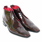 Jeffery West Men's J834 Ship Tip College Leather Chukka Boot Red