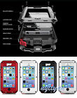 New Aluminum Water/Shock/Dust Proof Case Cover W Gorilla glass for iPhone 6 4.7""