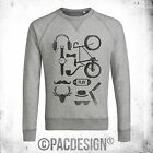 FELPA UOMO HIPSTER KIT CYCLE BAFFI MUSTACHE WHY SO VINTAGE DK0237A