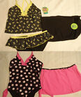 TOTAL GIRL Size 14 1/2 Polka Dot MALIBU SZ. 16 Choice Swimsuit Set NWT Swimwear