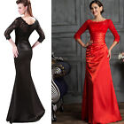 Lace Satin Sexy Vintage Long Mermaid Cocktail Prom Evening Wedding Dresses Gowns