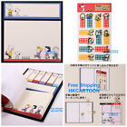JAPAN MADE SNOOPY CARTOON PAPER NOTEBOOK STICKERS PVC BOOKMARKS