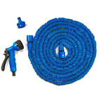 Flexible Latex 25 75 100 Feet Expanding Garden Water Hose Pipe Reel Spray Nozzle
