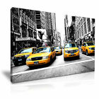 NEW YORK Manhattan Yellow Cab Taxi Canvas Framed Print ~ More Size