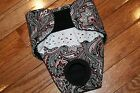 BLACK RED PAISLEY Female Dog Diaper by angelpuppi xs-xxx