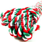 CHRISTMAS BAKERS TWINE CHUNKY RED GREEN WHITE, 100% COTTON 4mm MADE IN BRITAIN