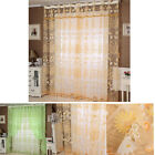 Floral Tulle Door Window Curtain Drape Panel Sheer Scarf Valances Reliable