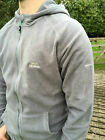 Mens Trespass Gunbarrel Microfleece Small S Grey Smoke Full Zip Hooded Jacket