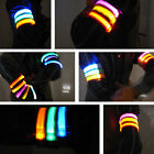 Colorful LED Flashing Light Safety Reflective Nylon Running Cycling Armband Gift