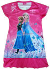 Disney Frozen Elsa Anna Olaf Sven Children Kids Girl Dress Pajama 3-9Yr Hot Pink