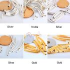 100pcs Silver/Gold/Nickel/Copper Smooth Curved Tube Spacer Beads Jewelry Making