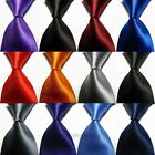 Men's Pure Fashion Tie Solid Plain Classic Artificia Silk  Woven Necktie