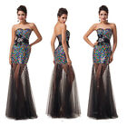 HOT Sparkly Sequins LONG Evening Formal Party Ball Gown Pageant Bridesmaid Dress