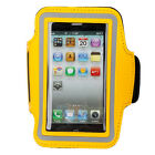 Colors Neoprene Running Sport Armband Cover Case for Apple iPhone 5c 5s Yellow