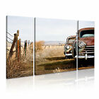 TRANSPORT Vehicle Car 3 Canvas 3B Framed Prined Wall Size ~ 3 Panels