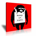 BANKSY Monkeyr 1 Canvas 1S Framed Printed Wall Art ~ More Size