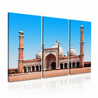 India 5 Cityscape Asia Canvas 3A Framed Printed Wall Art ~3 Panels