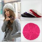 Women Fashion Winter Beret Braided Baggy Beanie Crochet Hat Ski Caps,10 Colors