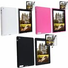 For Apple New iPad 4 4th Gen 3rd 2nd Silicone Case Cover Skin+Protector Stylus