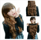 New Fashion Women Ladies Girl Heat Resistant Hair Wig Long Curly Wave Wigs+Cap