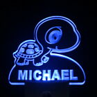 ws1016-tm Turtle Personalized Baby Name Day/ Night Sensor LED Night Light