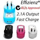 USB AC Wall Charger Adapter for Mobile Tablet iPhone Samsung HTC LG Kindle iPad