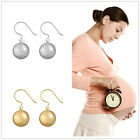 Chime Wishing Maternity Earring Silver Gold Plated 12mm bola Hook Earrrings