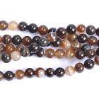 """16"""" Natural Coffee Stripe Agate Gemstone Spacer Beads 4MM 6MM 8MM 10MM 12MM #24"""