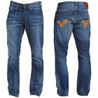 Mens Voi Jeans New Mid Wash Whiskering Straight Leg Denim 5 Pocket Trousers