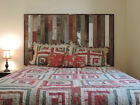 Rustic Reclaimed Barn Wood Wall Mounted Country Headboard (Many Color Options!)