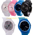 New Men's Women's Military Quartz Watch Analog Dial Rubber Band Sport Wristwatch