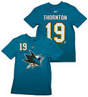 Reebok NHL Youth San Jose Sharks Joe Thornton #19 Short Sleeve Player T-shirt