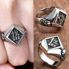 Mens Stainless Steel Motorcycle 1%ER Biker Club Logo Band Ring Punk Jewelry Gift