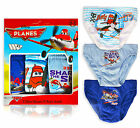 Boys Official Disney Planes Underwear Kids 3 Pack Briefs New Pants Age 2-8 Years