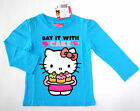NWT: New Hello Kitty Blue 'Say it with Cake' Sparkle Shirt, 2T 3T or 4T Rtls $18
