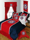 Washington Nationals Bed in a Bag Drapes Valance Twin to King Comforter