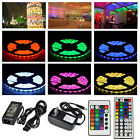 5M SMD 3528 5050 RGB LED Strip Light + Power Supply Adapter+ IR Remote Kit Xmas