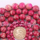 6-14mm Round Plum Imperial Jasper Gemstone For DIY Spacer Loose Beads Strand 15""