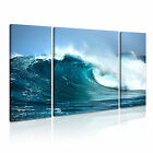 NATURE Seascape 31 Canvas 3B Framed Printed Wall Art ~ 3 Panels