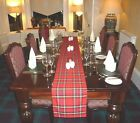 SCOTTISH TARTAN  TABLE RUNNER. 4, 6 & 12 ft (122, 182 & 365 cm) Made in Scotland