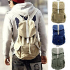 Discount Men Boy Canvas Backpack Rucksacks Travel School Gym Shoulder Laptop Bag