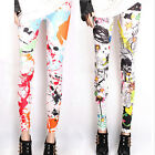 Brand New Girl Skinny Colorful Punk Leggings Stretchy Pants Hot UKMW