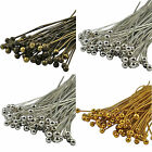 100 Silver & Gold & Bronze Jewellery findings Plated Metal  Head Pins - Ballpins