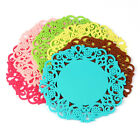 5X Lovely Silicone Lace Flower Cup Coaster Nonslip Cushion Placemat Reliable