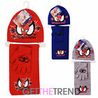 Boys Official Marvel Heroes Spiderman Hat Scarf Glove Accesory Set Gift Idea